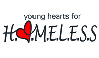 young hearts for the homeless logo